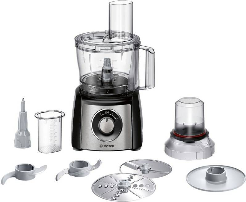 Bosch MCM3401M keukenmachine 800 W 2,3 l Zwart, Roestvrijstaal online kopen