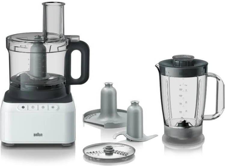 Braun Base FP3131WH keukenmachine 2,1 l Grijs, Wit 800 W online kopen